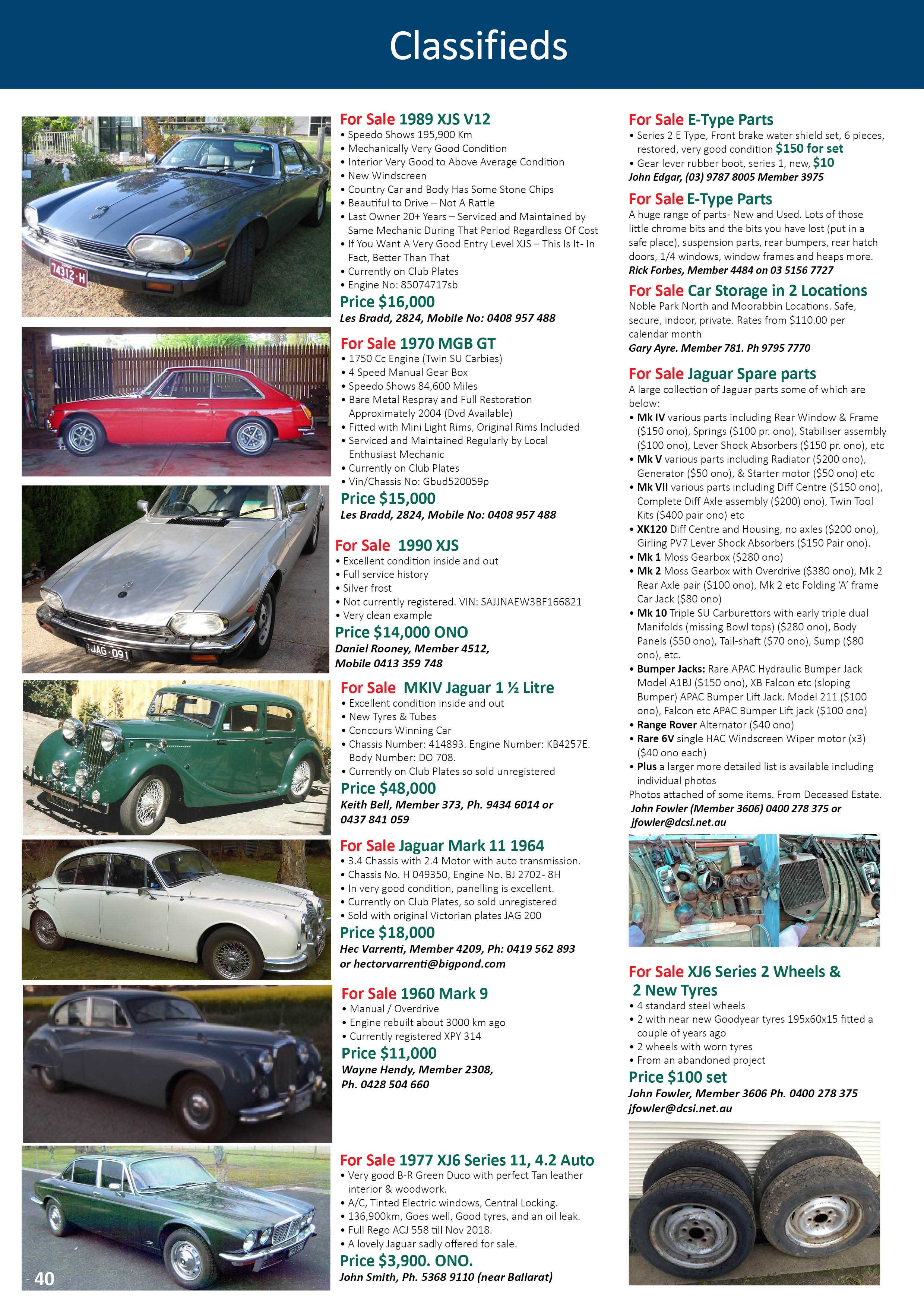 CLASSIFIEDS SEPTEMBER 2018 1
